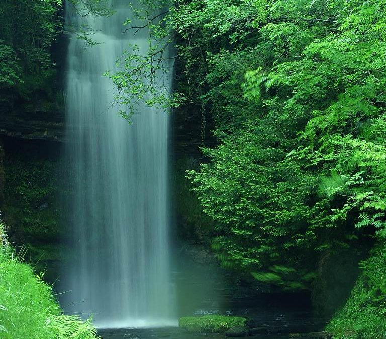 image of a waterfall, peace of mind